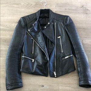 Zara (faux leather) biker jacket